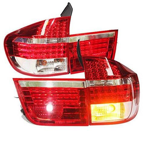 Штатна 2007 по 2010 рік для BMW X5 E70 LED задня оптика Rear Light червоний білий LF, фото 2