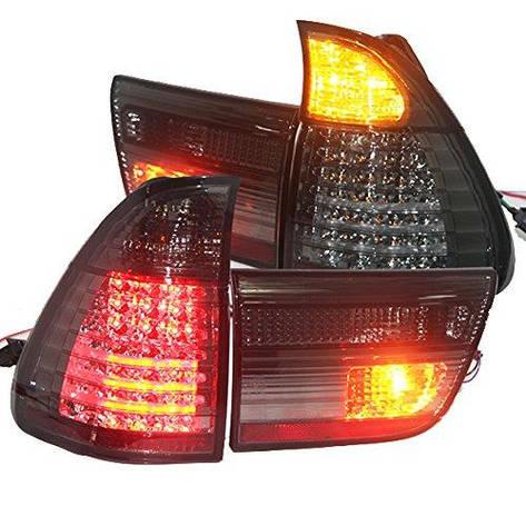 Штатная для BMW X5 E53 LED задняя оптика задняя оптика 1998 по 2003 год дымчатый черный SN, фото 2