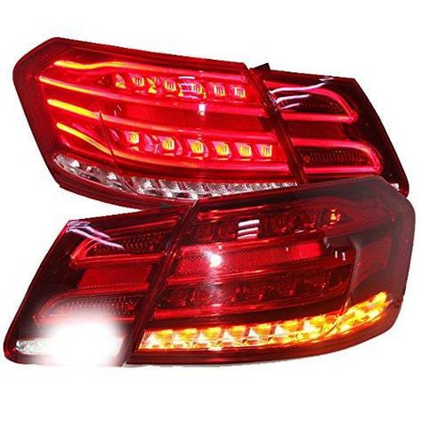 Штатная 2009 по 2012 год для Mercedes-Benz W212 LED задняя оптика красный цвет LF, фото 2