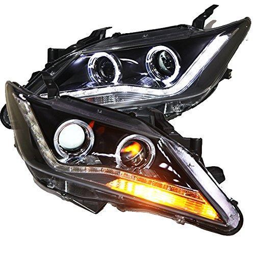Штатная 2012 по 2013 год для Toyota Camry V50 LED ангельские глазки Lights головная оптика PWV1