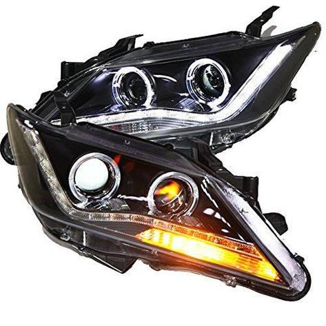 Штатная 2012 по 2013 год для Toyota Camry V50 LED ангельские глазки Lights головная оптика PWV1, фото 2