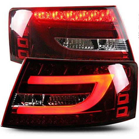 Штатная 2004 по 2008 год для Audi A6L LED полоса задняя оптика Car задняя оптика красный белый цвет SN, фото 2