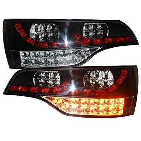 Штатная 2006 по 2010 год для Audi Q7 LED задняя оптика задняя оптика черный ободок Clear Lens SN, фото 2