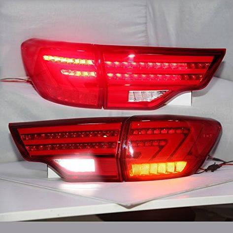 Штатна 2015 рік для Toyota Highlander Kluger LED задня оптика червоний колір BZW, фото 2