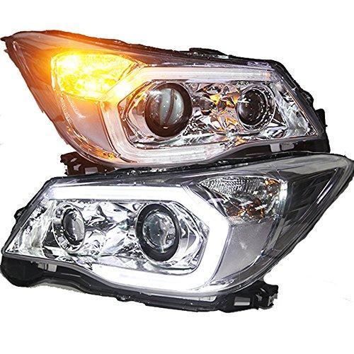 Штатная 2013 по 2015 год для Subaru Forester головная оптика с LED полосой с Bi Xenon линзой PW