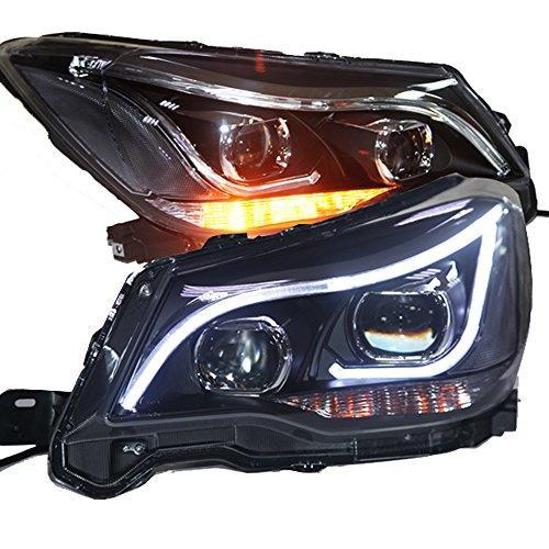 Штатна 2013 по 2014 рік для Subaru Forester передні фари з LED смугою з DRL and Bi Xenon лінзою TLZ