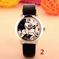 Детские наручные кварцевые часы «Микки Маус» 100-40, черный