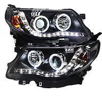 Штатная 2008 по 2012 год для Subaru Forester головная оптика с LED ангельскими глазками LD