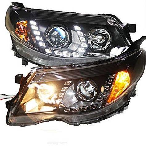 Штатна 2008 по 2012 рік для Subaru Forester LED головна оптика з Bi Xenon лінзою PW, фото 2