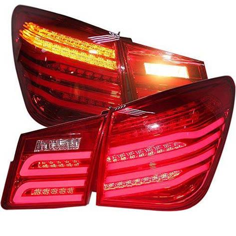 Штатная 2009 по 2013 год для Chevrolet Cruze LED задняя оптика для Bens Style WH красный цвет, фото 2