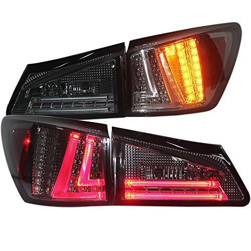 Штатная 2006 по 2012 год для Lexus IS250 LED задняя оптика дымчатый черный цвет SN