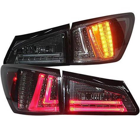Штатная 2006 по 2012 год для Lexus IS250 LED задняя оптика дымчатый черный цвет SN, фото 2