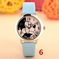 Детские наручные кварцевые часы «Микки Маус» 100-40, голубой