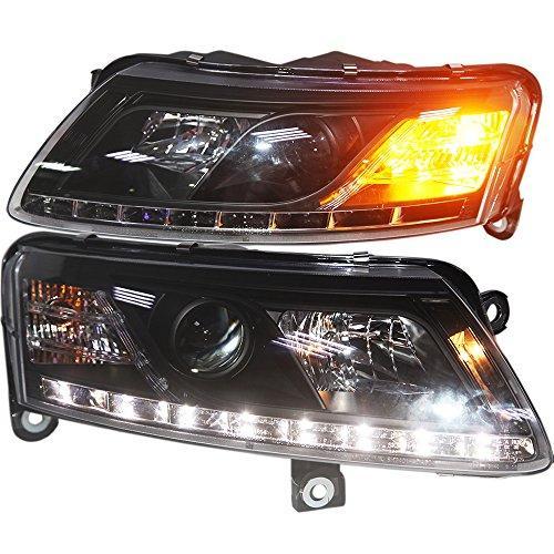 Штатная 2005 по 2008 год для Audi A6L головная оптика с LED полосой SN