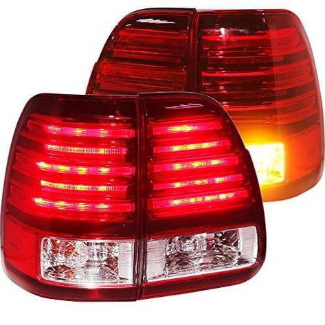 Штатная 1998 по 2007 год для Lexus LX470 LED задняя оптика красный белый цвет LF, фото 2