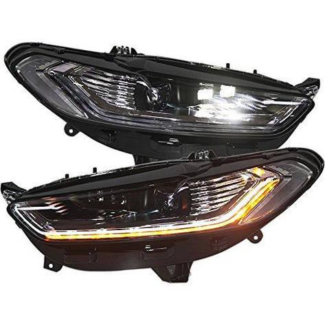 Штатная 2014 год для Ford Mondeo головная оптика LED Bulbs in High Beam с Moving Turn Light PW, фото 2