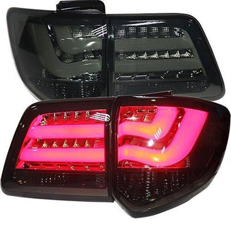 Штатна 2012 по 2014 рік для Toyota дляtuner LED смуга Back Light димчастий чорний колір YZ, фото 2