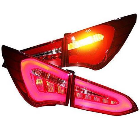 Штатная LED Rear Lamp 2011 по 2014 год для Hyundai Santa Fe IX45 задняя оптика с LED полосой красный YZ, фото 2