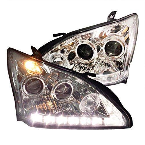 Штатная 2004 по 2009 год для Lexus RX330 RX350 LED головная оптика хром ободок SN