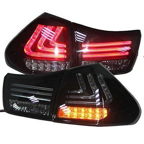 Штатная для Lexus 2004 по 2009 год RX330 RX350 LED задняя оптика дымчатый черный SN, фото 2