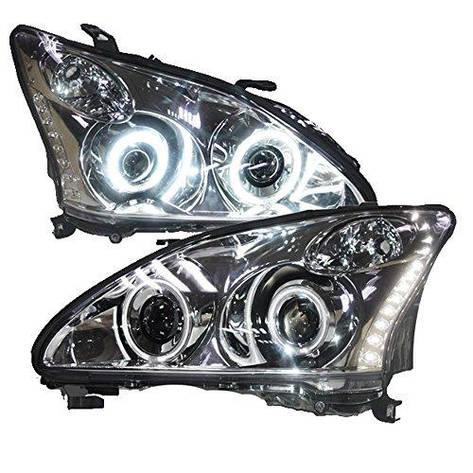 Штатная 2003 по 2008 год для Lexus RX330 RX350 LED головная оптика хром ободок LF, фото 2