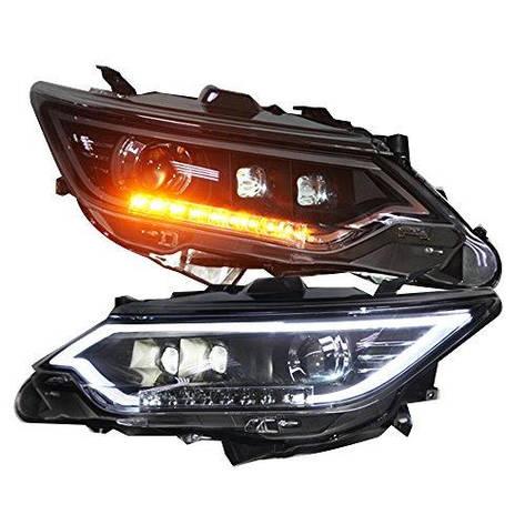 Штатна 2014 2015 рік головна оптика з LED смугою для Toyota Aurion Camry V55, фото 2