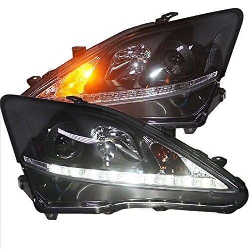 Штатная 2006 по 2012 год для Lexus IS250 IS300 IS350 LED головная оптика черный ободок SN