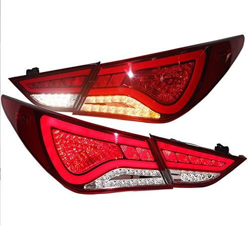 Штатная 2009 по 2014 год для Hyundai Sonata YF Sonata I45 Full LED задняя оптика WH