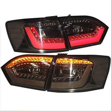 Штатная LED задняя оптика Back Lamp 2012 год для New Jetta MK6/Sagitar дымчатый черный цвет, фото 2