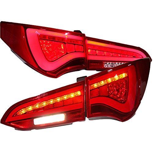 Штатная LED задняя оптика Back Light 2013 по 2014 год WH для Hyundai Santa Fe IX45 красный цвет