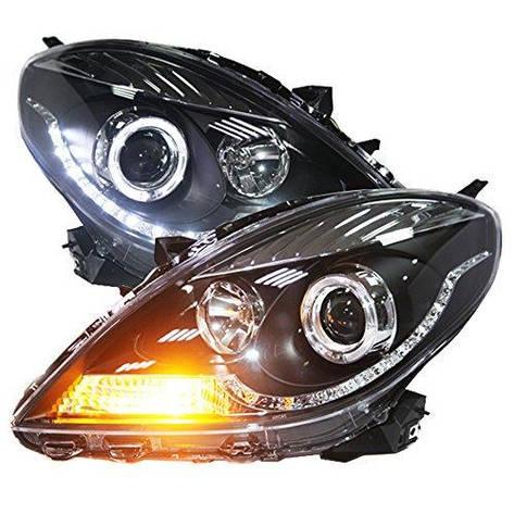 Штатная LED головная оптика 2011 по 2013 год для Nissan Sunny Versa, фото 2