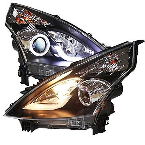 Штатная LED полоса головная оптика с ангельскими глазками с Bi Xenon линзой 2008 по 2012 год LD для Nissan Teana Altima, фото 2