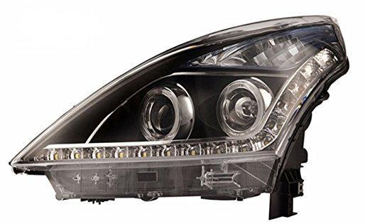 Штатная головная оптика с LED ангельскими глазками 2008 по 2012 год YZ для Nissan Teana