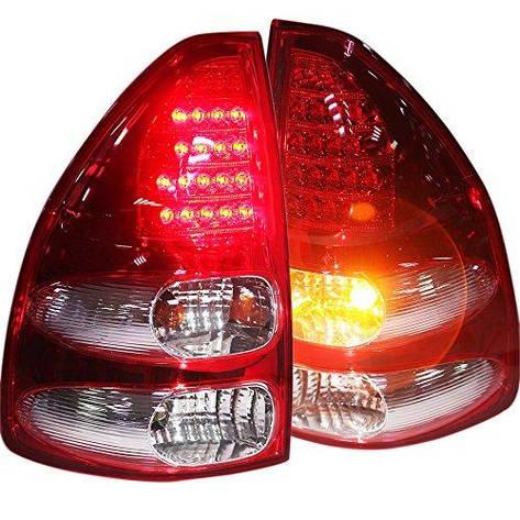 Штатная LED задняя оптика 2003 по 2009 год красный белый цвет для Toyota Prado FJ120, фото 2