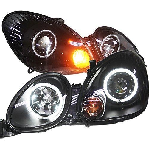 Штатная Lexus GS300 GS400 GS430 1998 по 2005 год головная оптика с LED ангельскими глазками черный ободок