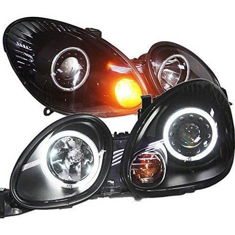 Штатная Lexus GS300 GS400 GS430 1998 по 2005 год головная оптика с LED ангельскими глазками черный ободок, фото 2