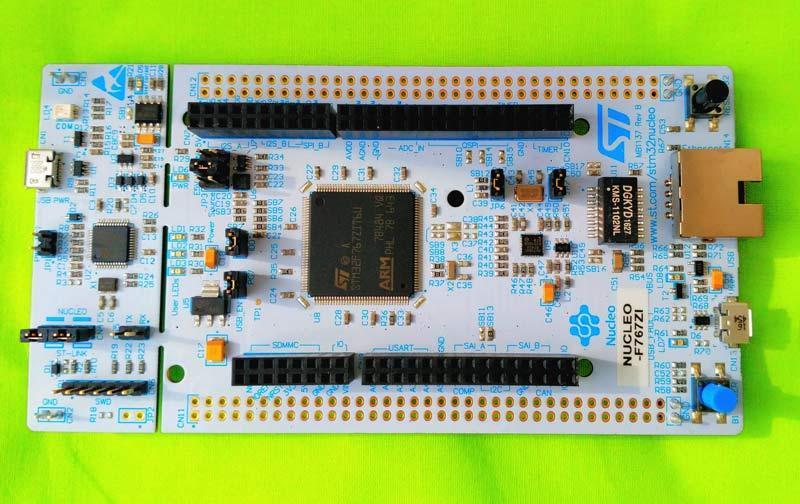 NUCLEO-F767ZI, Отладочная плата на базе MCU STM32F767ZIT6 (ARM Cortex-M7),  ST-LINK/V2-1, Arduino, Et: продажа, цена в