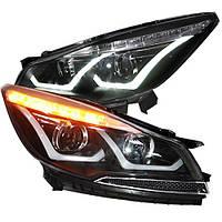 Штатная 2013 по 2014 год для Ford KUGA Escape головная оптика с LED полосой LDV3