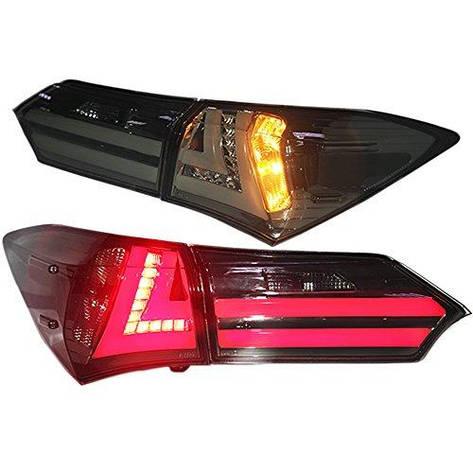 Штатная LED задняя оптика 2014 по 2015 годs YZ для Toyota Corolla дымчатый черный цвет, фото 2