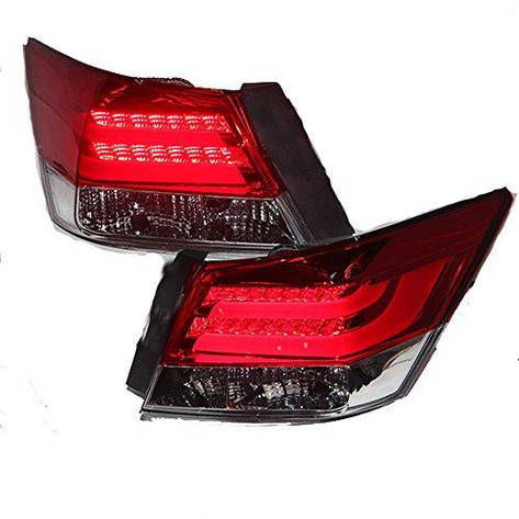 Штатна LED задня оптика 2008 по 2012 рік для Honda Accord червоний колір білий, фото 2