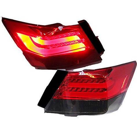 Штатная LED задняя оптика 2008 по 2012 год для Honda Accord красный черный цвет, фото 2
