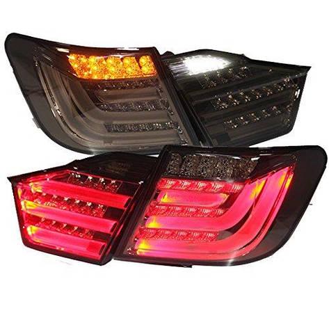 Штатная LED задняя оптика 2012 по 2013 год BZW для Toyota Camry Aurion дымчатый черный цвет, фото 2