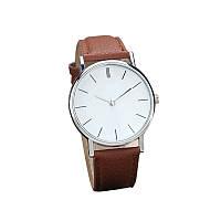 Классические наручные кварцевые часы 100-24, коричневый