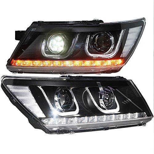 Штатная 2009 по 2014 год для Dodge Journey Fiat Freemont LED U Angel Eye передняя оптика