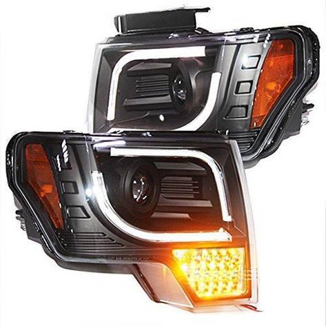 Штатная для Ford Ford F-150 Raptor LED головная оптика LED Turnlight 2008 по 2012 год, фото 2
