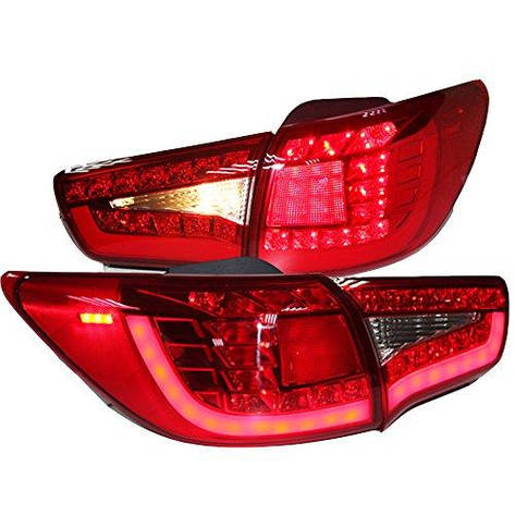 Штатная LED задняя оптика Rear Light 2009 по 2013 год WH для Kia Sportage R красный цвет, фото 2
