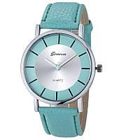 Женские наручные кварцевые часы Geneva 100-25, голубой
