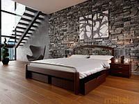 Кровать деревянная Британия с ковкой двуспальная, фото 1
