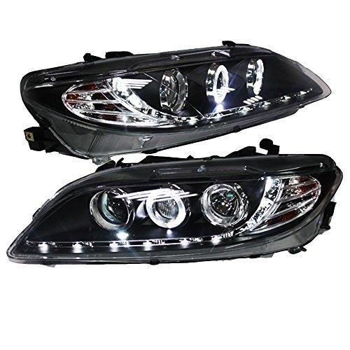 Штатная головная оптика с LED ангельскими глазками 2003 по 2013 год LD для Mazda 6