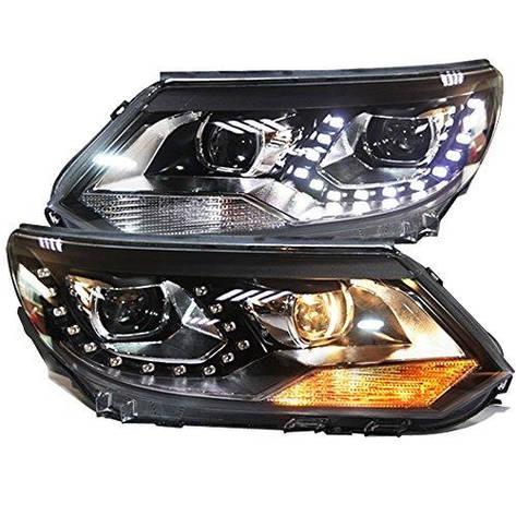 Штатная LED головная оптика TLZ 2012 по 2014 год для Volkswagen Tiguan, фото 2
